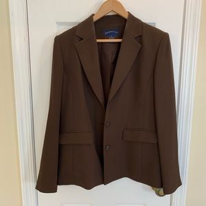 Charter Club Jackets & Coats - Brown/Tan sheath dress & jacket set